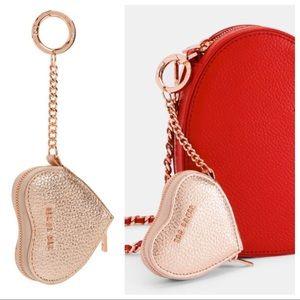 TED BAKER Kahi Heart Rose Gold Coin Bag Keyring